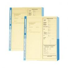 Cartelline a 2 lembi 4Pro A4 in carta di cellulosa 225 g/m² dorso 2 cm blu conf. da 50 pezzi - 4175 01