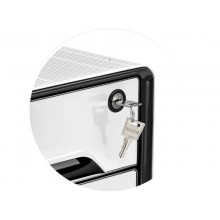 Cassettiera 4 cassetti CEP Smoove Secure 36x28,8x27,1 cm inserti neri 1073110121