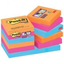 Foglietti riposizionabili Post-it® Super Sticky 47,6x47,6 mm Bangkok conf. 12 blocc. da 90 ff - 622-12SS-EG