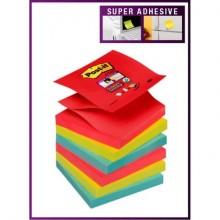 Foglietti riposizionabili Post-it® Super Sticky 76x76 mm Rio de Janeiro conf. 6 blocchetti da 90 ff - 654-6SS