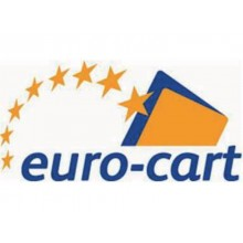 Cartelline 3 lembi EURO-CART cartoncino calandrato 24,5x34 cm azzurro conf. 6 pezzi - XCM03FAZ/6