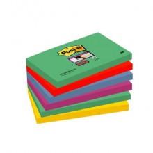 Foglietti Post-it® Super Sticky Marrakesh assortiti conf. 6 blocchetti da 90 ff - 655-6SS MAR