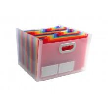 Classificatore valigetta Crystal Colours cristallo 24 scomparti 33x23,5x25cm con maniglia - 55198E