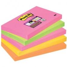 Foglietti riposizionabili Post-it® Super Sticky Cape Town assortiti conf. 6 blocchetti da 90 ff - 655S-N