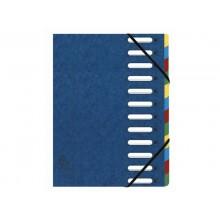 Classificatore Harmonika® 12 divisori - 24,5x32 cm blu 55122E