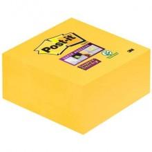 Foglietti riposizionabili Post-it® Cubo Super Sticky Notes 76x76 mm giallo oro 2028-S