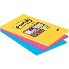 Foglietti Post-it® Super Sticky XXL Rio De Janeiro a righe assortiti conf. 3 blocchetti da 90 ff - 4690-SS3RIO-EU