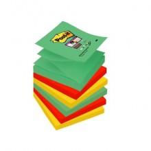Foglietti riposiz. Post-it® Ricarica Z-Notes Super Sticky assortiti Marrakesh 6 bloc. da 90 ff - R330-6SS-MAR