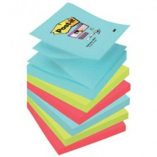 Foglietti riposizionabili Post-it® Ricarica Z-Notes Super Sticky assortiti Miami  6 bloc. da 90 ff - R330-6SS-MIA