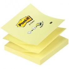 Foglietti riposizionabili classici Post-it® Ricarica Z-Notes Giallo Canary™ blocchetto da 100 ff - R330 (Conf.12)