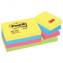 Foglietti riposizionabili Post-it® Notes Energy 51x38 mm neon assortiti conf. 12 blocchetti da 100 ff - 653-TFEN