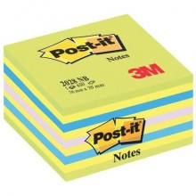 Foglietti riposizionabili Post-it® Notes Cubo Neon 76x76 mm 450 ff blu neon 2028-NB