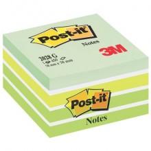 Foglietti riposizionabili Post-it® Notes Cubo 76x76 mm verde pastello 2028-G