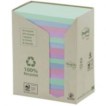 Foglietti Post-it® Notes 76x127 mm carta riciclata assortiti conf. torre da 16 blocchetti da 100 ff - 655-1RPT