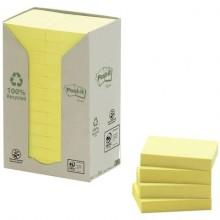 Foglietti Post-it® Notes Giallo in carta riciclata conf. torre da 24 blocchetti da 100 ff - 653-1T