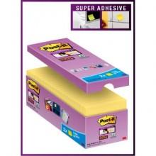 Foglietti Post-it® Super Sticky Giallo Canary™ cf 14 blocchetti + 2 gratis da 90 ff - 654SSCY-VP16