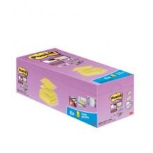 Foglietti Post-it® Super Sticky a Z Giallo Canary™ conf. 16 blocchetti + 4 gratis da 90 ff - R330-SSCYVP20