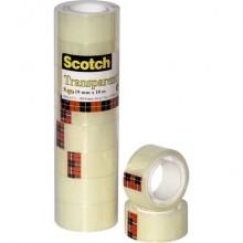 Nastro adesivo Scotch® 550 19 mm x 10 m trasparente torre da 8 rotoli 550-1910