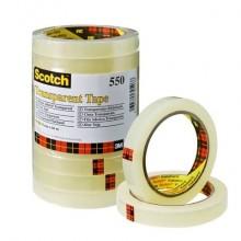 Nastro adesivo Scotch® 550 in torre 15 mm x 66 m trasparente 10 rotoli - 550-1566