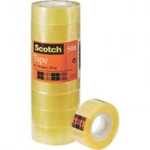Nastro adesivo Scotch® 508 19 mm x 33 m trasparente torre da 8 rotoli - 508