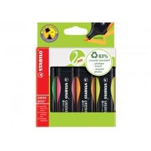 Evidenziatori Stabilo Green Boss® 2-5 mm assortiti Conf. 4 pezzi - 6070/4
