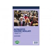 Blocco Acquisto valori bollati flex 21,5x14,8 cm 50x2 copie autoricalcanti 1649C0000