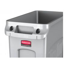 Contenitore rifiuti per differenziata Rubbermaid Slim Jim® con canali di ventilazione 87 L Grigio - FG354060GRAY