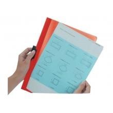 Cartellina con clip Durable DURACLIP® A4 - dorso 3 mm - capacità 30 fogli azzurro - 220006