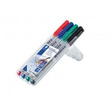 Penna a punta sintetica Staedtler Lumocolor® non-permanente 316 F 0,6 mm assortiti Conf. 4 pezzi - 316 WP4