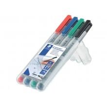 Penna a punta sintetica Staedtler Lumocolor® non-permanent 315 M 1 mm assortiti Conf. 4 pezzi - 315 WP4