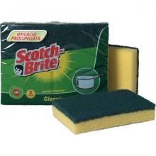 Spugna accoppiata Scotch-Brite® spugna e fibra abrasiva verde Conf. 2 pezzi - A12
