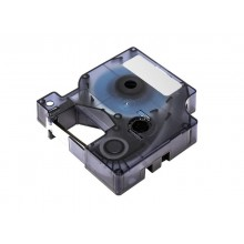 Nastro Q-Connect compatibile con Dymo D1 per etichettatrici Dymo Label Manager nero/bianco - 12 mm x 7 m - KF18793