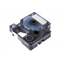 Nastro Q-Connect compatibile con Dymo D1 per etichettatrici Dymo Label Manager nero/trasparente - 12 mm x 7 m - KF18839