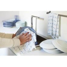 Panno per stoviglie microfibra tessuto non tessuto perfetto factory Dynamo 50X60 cm bianco - conf. 5 pezzi - 26636