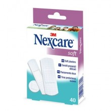 "Cerotti Nexcare™ ""Soft"" assortiti 3 misure assortiti conf. 40 cerotti - N0540AS"