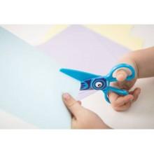 Forbici per bambini 100% in plastica - Dahle blu con gufo R054676