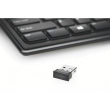 Kensington Tastiera wireless sottile Advance Fit™ Kensington Nero K72344IT
