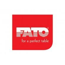 Tovaglioli piegati 1 velo Fato Tablewear 40x40 cm pura cellulosa decoro Mykonos blu - conf. 50 pezzi - 88446100