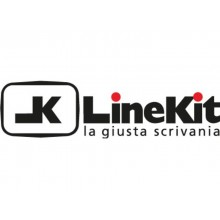 Scrivania LineKit Koros 180x80xH.75 cm piano wengè - struttura acciaio alluminio - S2030KWE