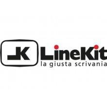 Scrivania LineKit Swing 180x80xH.75 cm - piano wengè - struttura bianco - S4030AWEBI