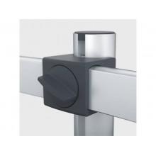 """Braccio porta monitor per 2 schermi max 27"""" DURABLE argento metallizzato 780x445x190 mm - 5085-23"""
