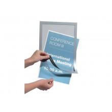 Cornice espositiva adesiva DURABLE DURAFRAME® A4 - argento Conf. 10 pezzi  - 4882-23