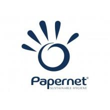 Asciugamani interfogliati piegati a V Papernet 2 veli - 21x22 cm - bianco Conf. 15 fascette da 210 pezzi- 404283