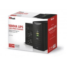 Gruppo di continuità Oxxtron 1000VA Trust con batteria integrata - 2 prese nero - 21199