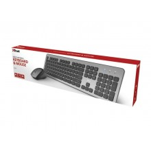 Set tastiera e mouse Wireless Trust Raza nero/grigio 23889