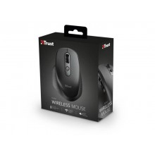 Mouse ergonomico ricaricabile wireless Trust OZAA ricevitore USB A 2.0 - portata 10 m - nero - 23812