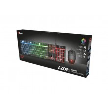 Tastiera e mouse gaming Trust GXT 838 Azor nero - luci a LED con modalità di colore - 23483