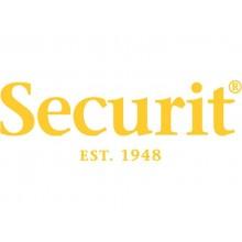 Colonnina segnapercorso Securit® 95x6,4x6,4 cm nastro retrattile nero 2,1 m - RS-RT-BL-SET