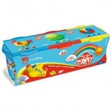 Pasta per giocare DIDO' Tris barattoli 220 g giallo/rosso/azzurro 390460