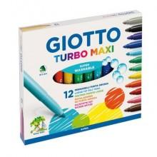 Pennarelli GIOTTO Turbo Maxi punta grossa 5 mm assortiti astuccio da 12 - 454000